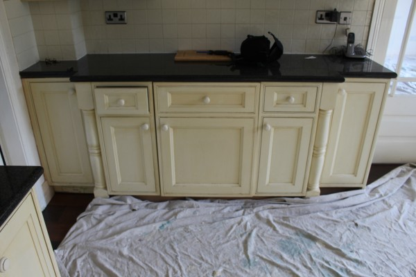 hand painted kitchen